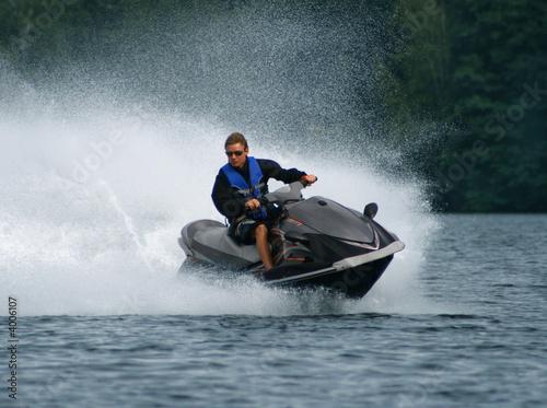 Poster Water Motor sports Water motorcycle.
