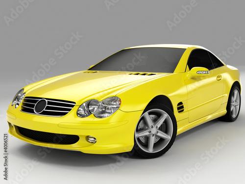 Türaufkleber Schnelle Autos yellow sports car