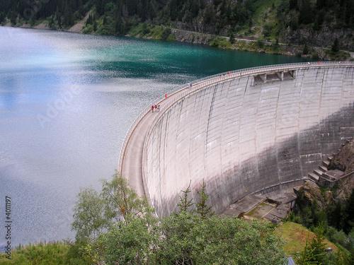 barrage et lac Wallpaper Mural
