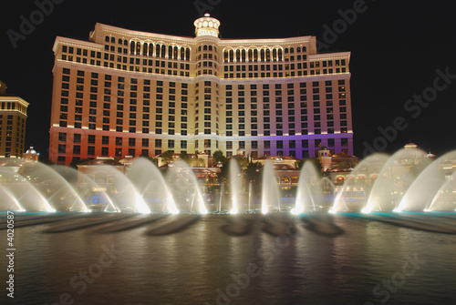 Spoed Foto op Canvas Las Vegas fountains of Belagio