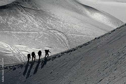 Photo Stands Mountaineering Alpinistes sur une arete