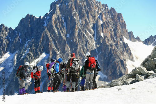 Photo sur Aluminium Alpinisme Alpinistes