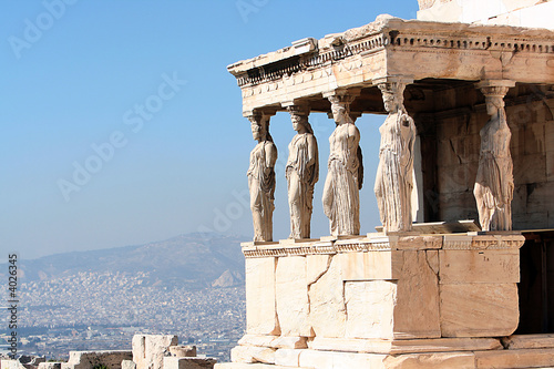 Printed kitchen splashbacks Athens porch of the caryatids, in athens