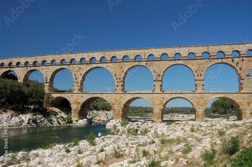 Poster Artistique Pont du Gard - Roman Aqueduct in the South of France