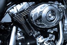 Gros Plan Sur Le Moteur D'une Moto De Légende