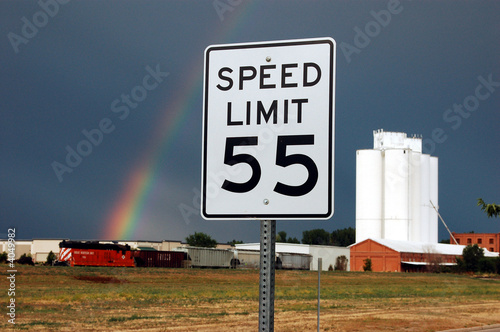 Fotomural  55 MPH Speed Limit - Rural Road