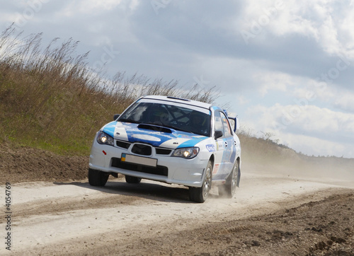 Deurstickers Snelle auto s Rallye