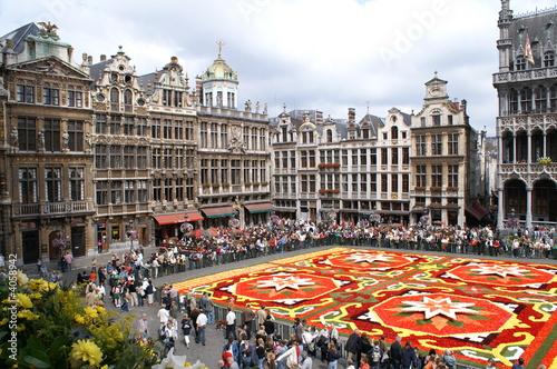 fête des fleurs sur la grand place de Bruxelles