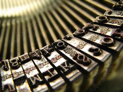 Fototapeta typewriter keys obraz