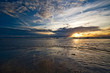 Leinwandbild Motiv Beautiful sunset on the beach