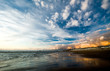 canvas print picture - Beautiful sunset on the beach