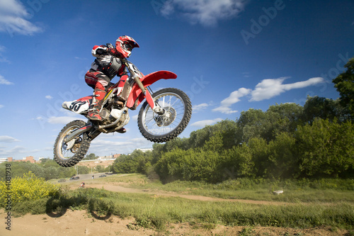 Foto op Plexiglas Motorsport flying moto