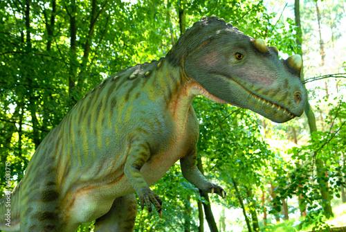 Fotografie, Tablou  Ceratosaurus nasicornis, Ceratosaur, dinosaurs series