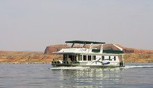 Houseboat On The Water At Lake Powell