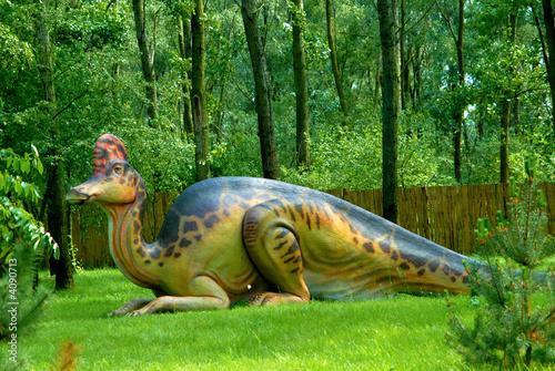 Fotografie, Tablou  Corythosaurus casuarius, Corythosaur, dinosaurs series