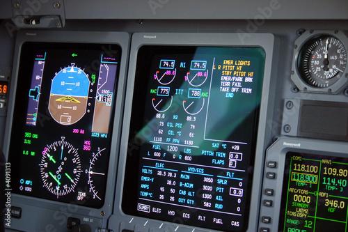 Fotografie, Obraz  flight deck detail