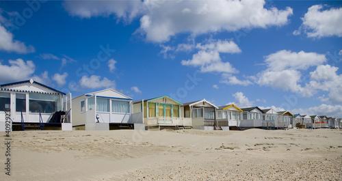 Obraz na plátne Beach huts 3