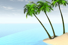 3D Render Of The Caribbean