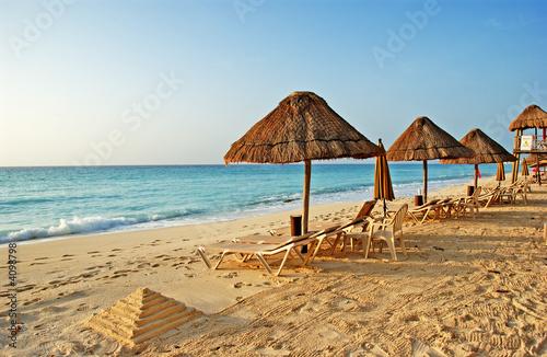 Fotografie, Obraz  the beach in the caribbean