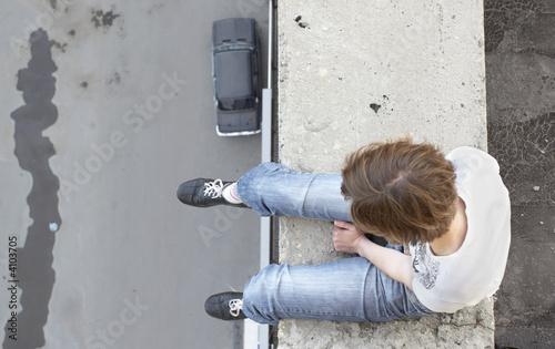 Obraz na plátně suicide girl