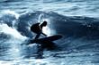 Leinwandbild Motiv Surfeur en contre jour