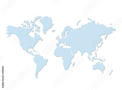 Foto op Canvas Wereldkaart Weltkarte 15