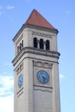 Top Of Spokane Clock Tower