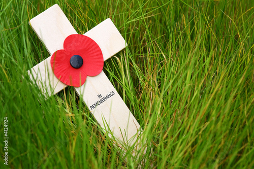 Remembrance cross Canvas Print