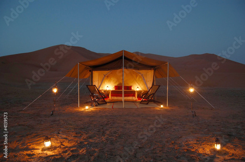 Poster de jardin Desert de sable Desert lodge