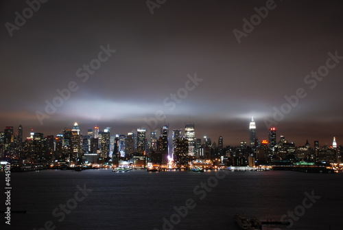 Cloudy Night view of Manhattan