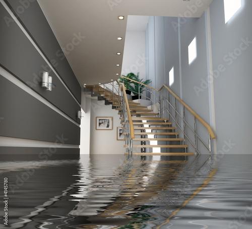 Obraz na plátně  modern interior in Insurance case