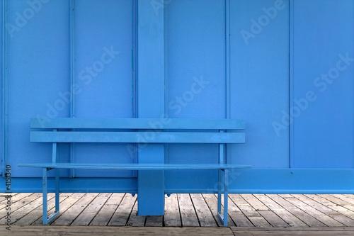 Fototapeta Blue bench