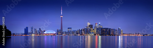 Toronto skyline at dusk (8:10 at night) Canvas Print