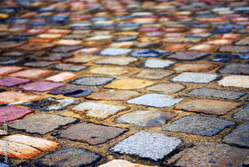 Cobblestone background Canvas Print