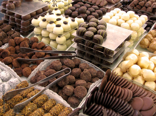 Poster Brussel Chocolats belges / Belgien chocolate