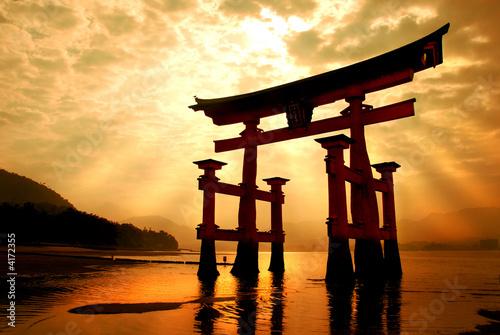 Foto-Kassettenrollo premium - The great gateway at Miyajima