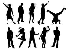 Silhouettes De Danseurs