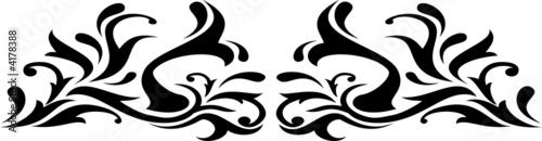 Fototapety, obrazy: scroll design