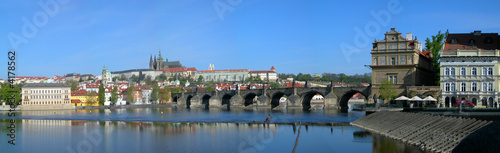 Fototapety, obrazy: Prague castle and Charles bridge