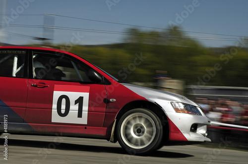 Deurstickers Snelle auto s rally speed