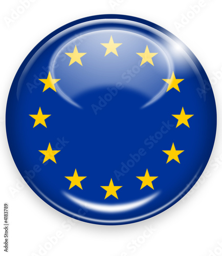 Obraz europa eu button - fototapety do salonu