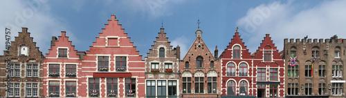 Poster Brugge bruges - façades