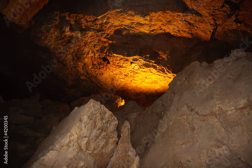 Foto op Aluminium Rudnes Light in the grotto