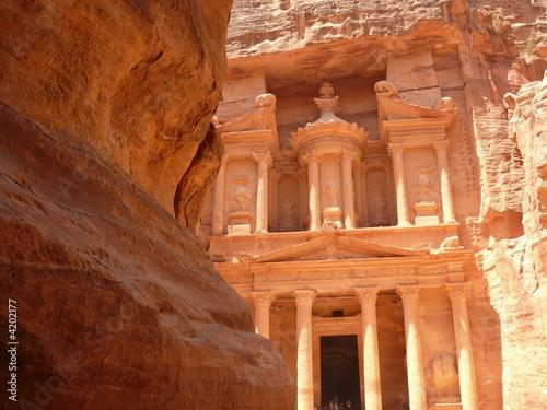 Fotografie, Obraz  Treasury, Al-Khazneh, front facade in the rock, Petra, Jordan