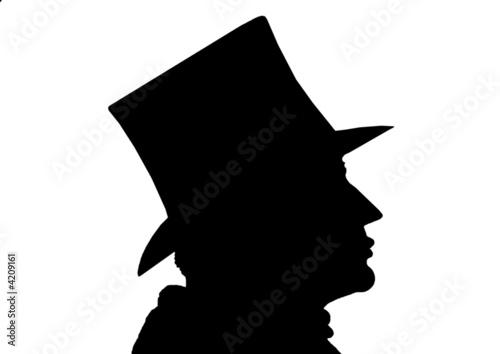 Valokuva  Mann mit Zylinder