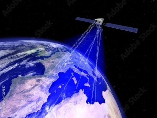 Fotografía  commincatin par satellite