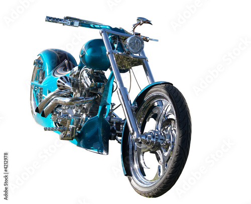 Custom Built Motorbike with clipping path - Buy this stock photo and