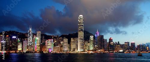 Tuinposter China Skyline Hong Kong
