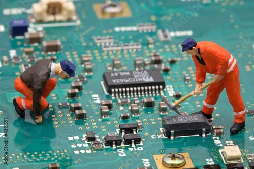 Photo  chantier électronique