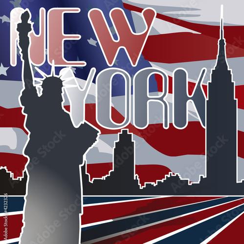 Foto-Flächenvorhang - New York (von MACLEG)
